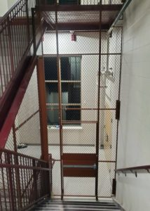 Custom Mesh Wire Partition For Stairwells