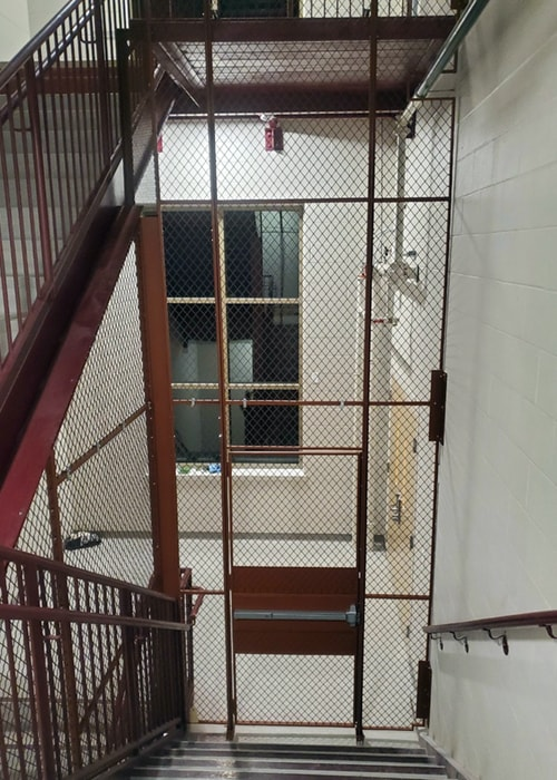 Custom Mesh Wire Partition For Stairwellscustom Mesh Wire Partition For Stairwells